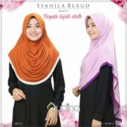 Hijab Royal Syahila Bergo - Brick n Light Purple